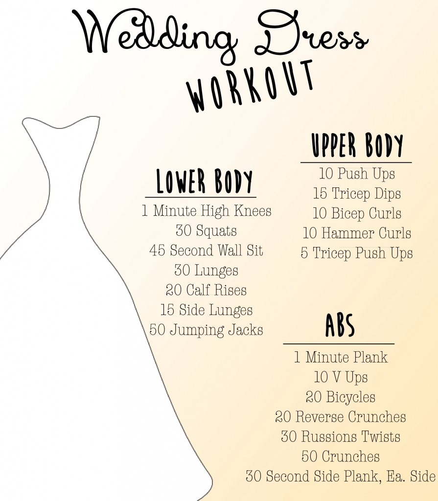wedding dress workout