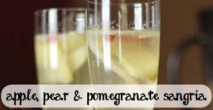apple pear and pomegranate sangria