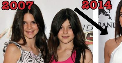 kendall and kylie jenner over the years