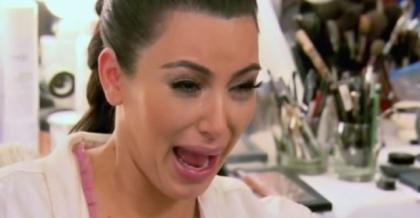 kim k crying