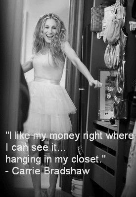 i like my money right where i can see it... hanging in my closet