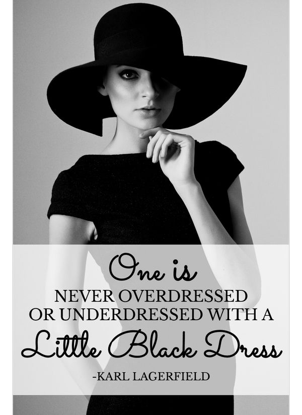 one is never overdressed or underdressed