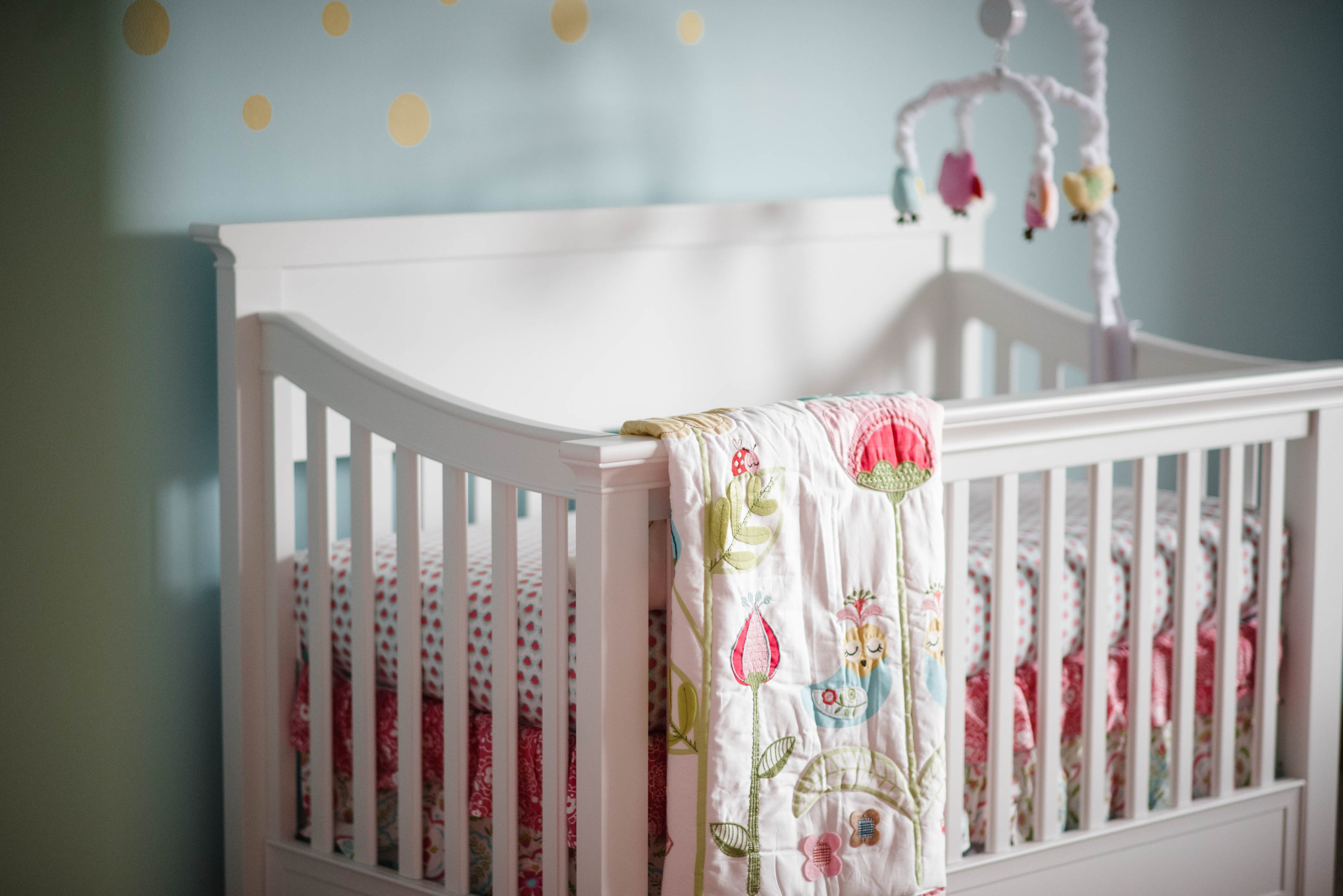 Coral Amp Aqua Baby Girl S Nursery Happy Girls Are The