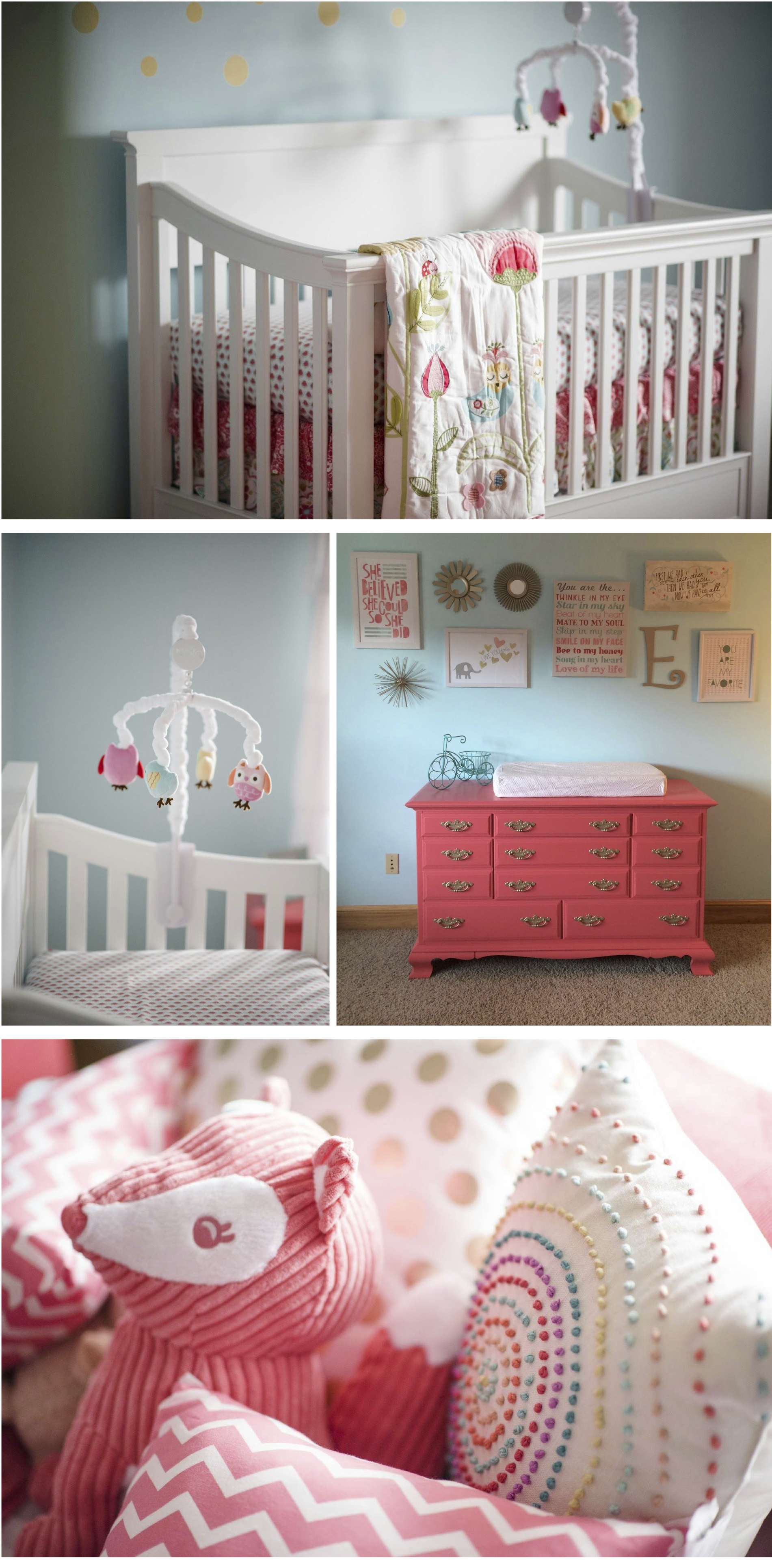 coral and aqua nursery, baby girl nursery!