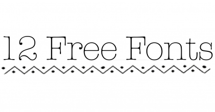 12 free fonts header pic
