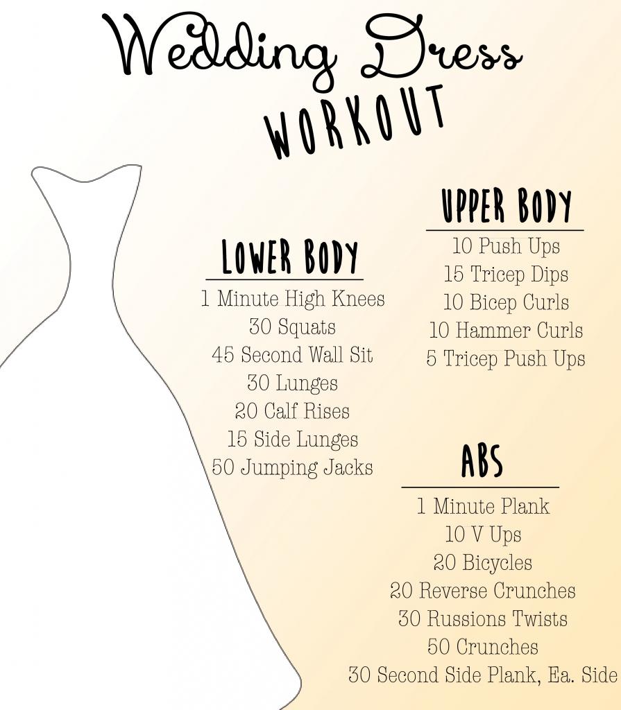wedding dress workout