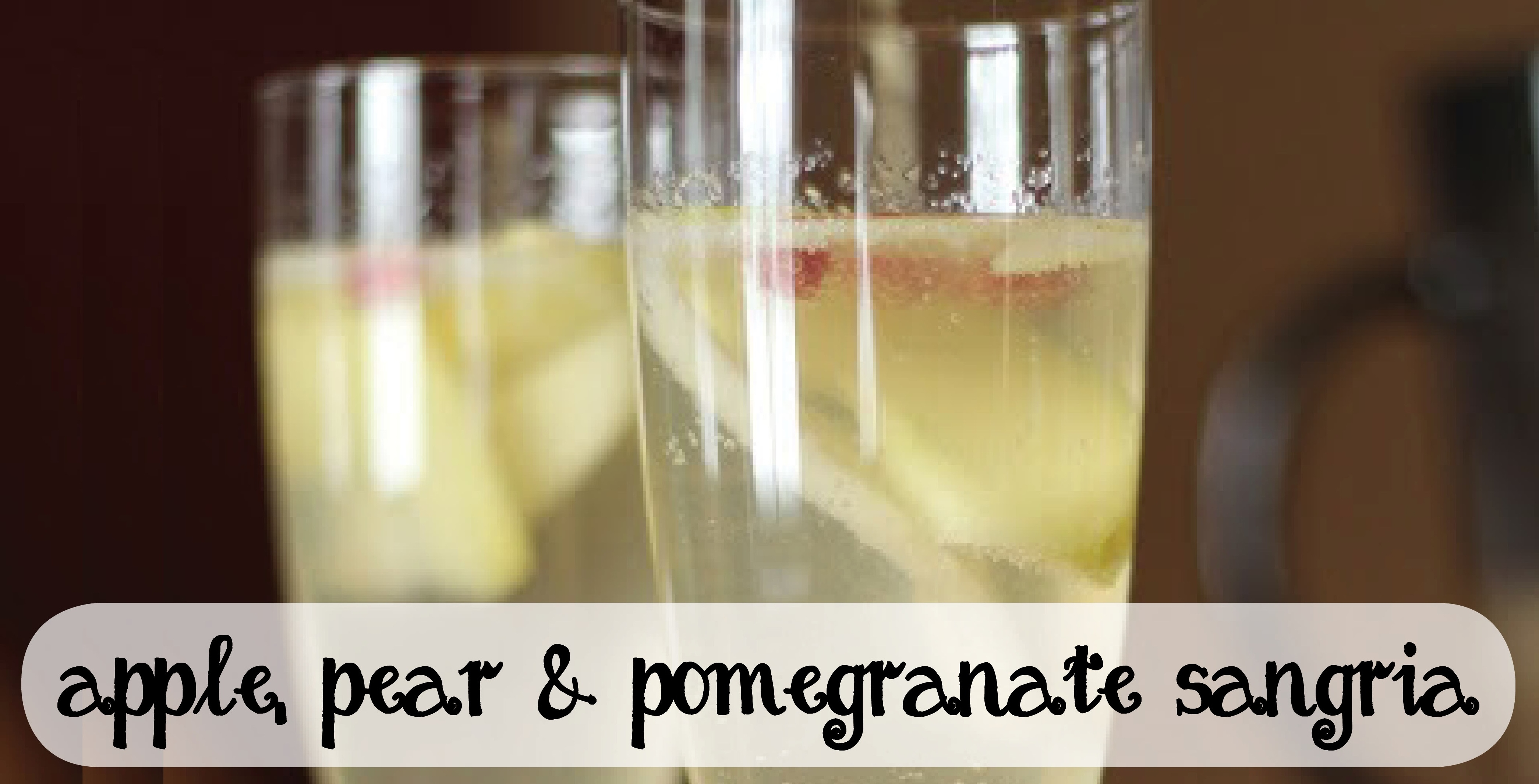 apple pear and pomegranate sangria