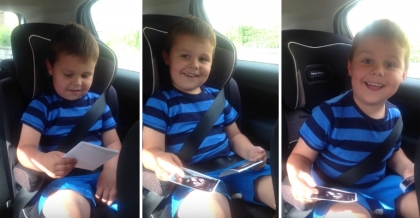 5-year-old British boy cannot contain his excitement about becoming a big brother