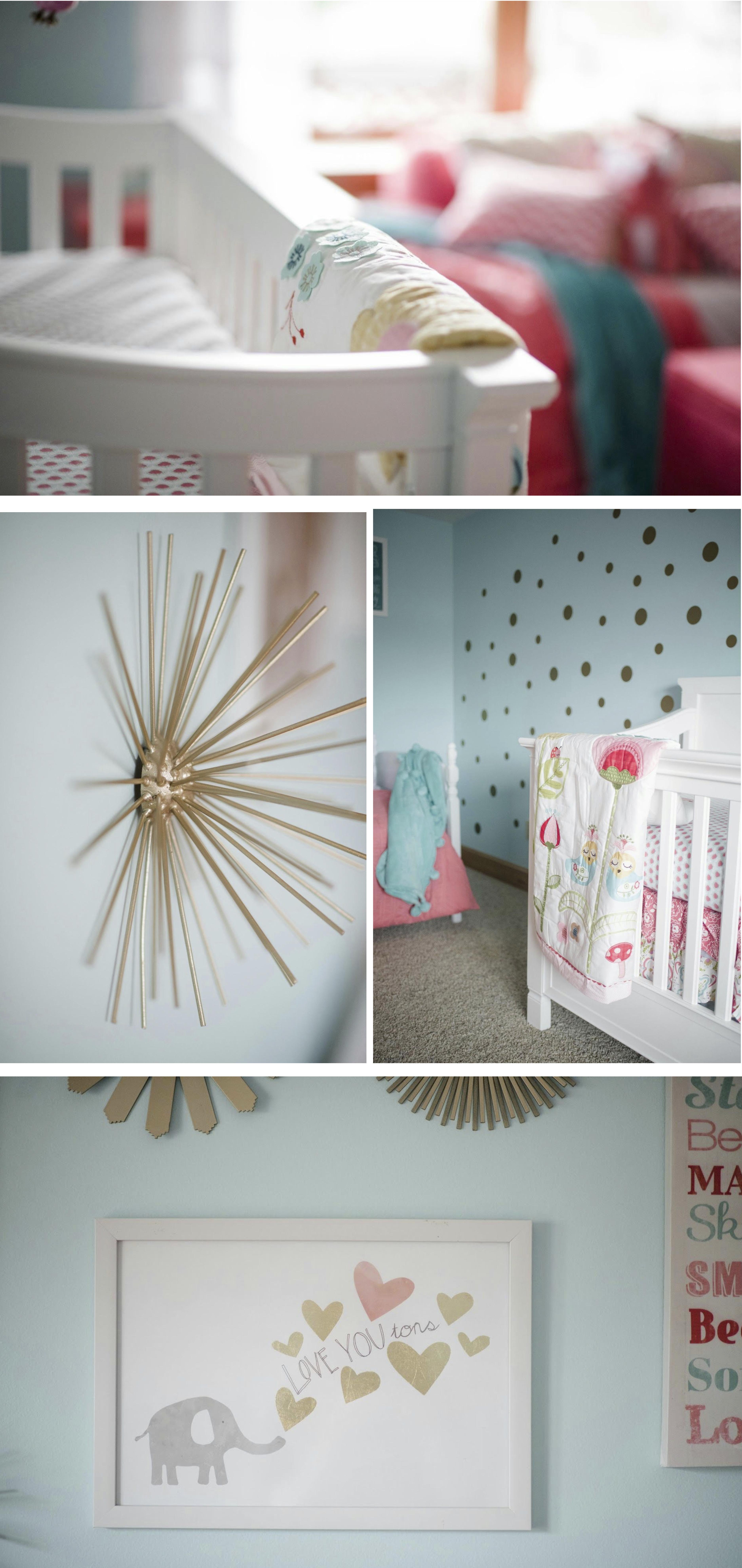 coral and aqua nursery, baby girl nursery!!