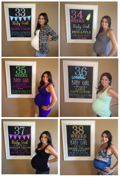 chalkboard weekly pregnancy sign